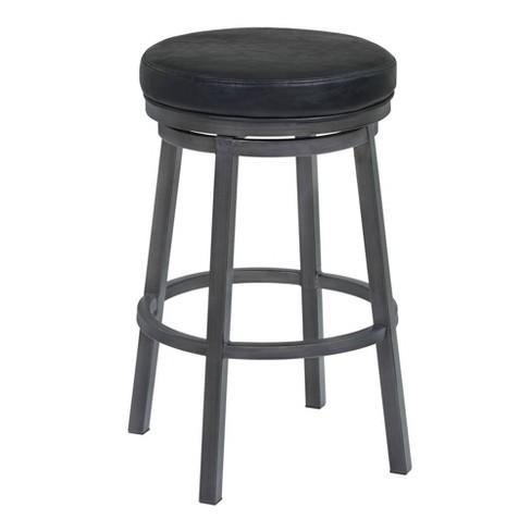 """30"""" Tilden Bar Height Backless Barstool Black - Armen Living - image 1 of 4"""
