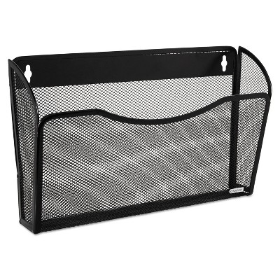 Rolodex Single Pocket Wire Mesh Wall File Letter Black 21931