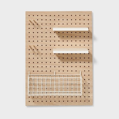 Modular Organization System Pegboard Brown - Pillowfort™