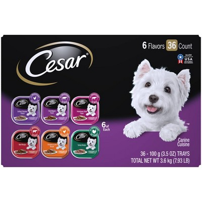 Cesar Classic Loaf in Sauce Wet Dog Food - 3.5oz/36ct Variety Pack