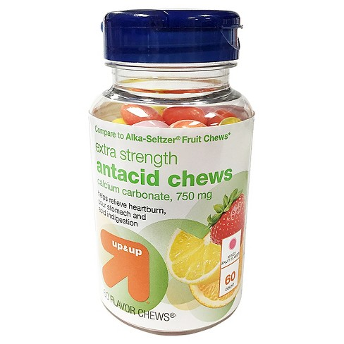 Antacid Mixed Fruit Flavor Chews - 60ct - Up&Up™ (Compare to Alka-Seltzer Fruit Chews) - image 1 of 1