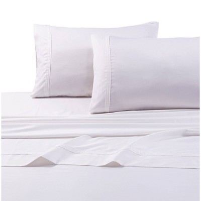 Queen 500 Thread Count Oversized Flat Sheet White - Tribeca Living