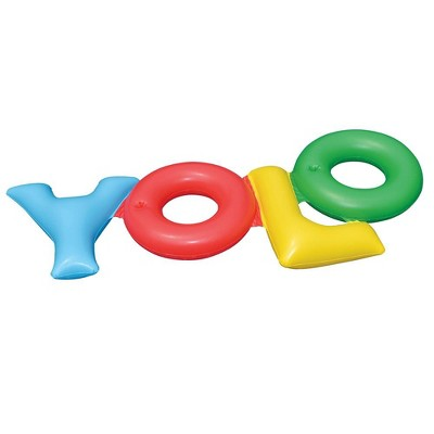 Swimline 90631 YOLO You Only Live Once Inflatable Swimming Pool Toy Raft Float