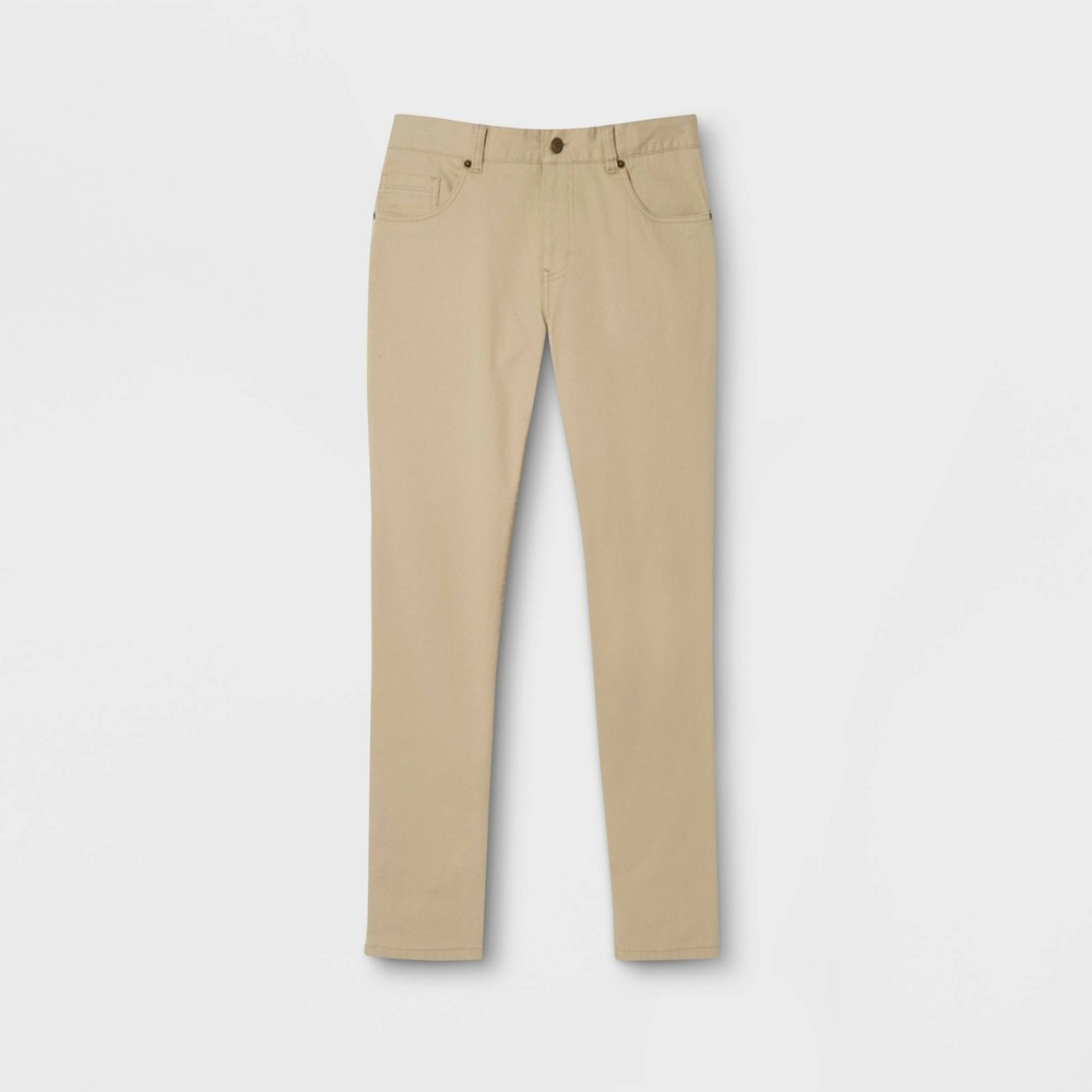 Image of French Toast Boys' Slim Fit Uniform Pants - Khaki 10, Boy's, Green