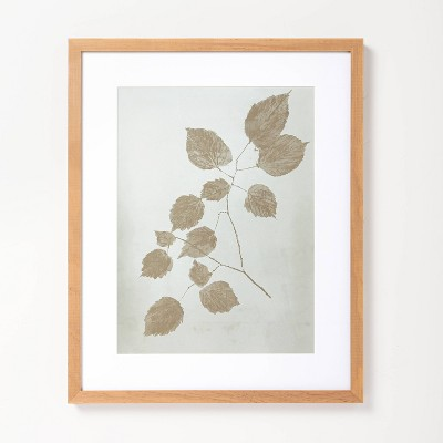 """16"""" x 20"""" Double Botanical Stem Framed Wall Art - Hearth & Hand™ with Magnolia"""