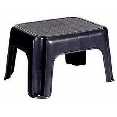Rubbermaid 1858957 Durable Plastic Household Step Stool with 200-LB Weight Capacity, Black