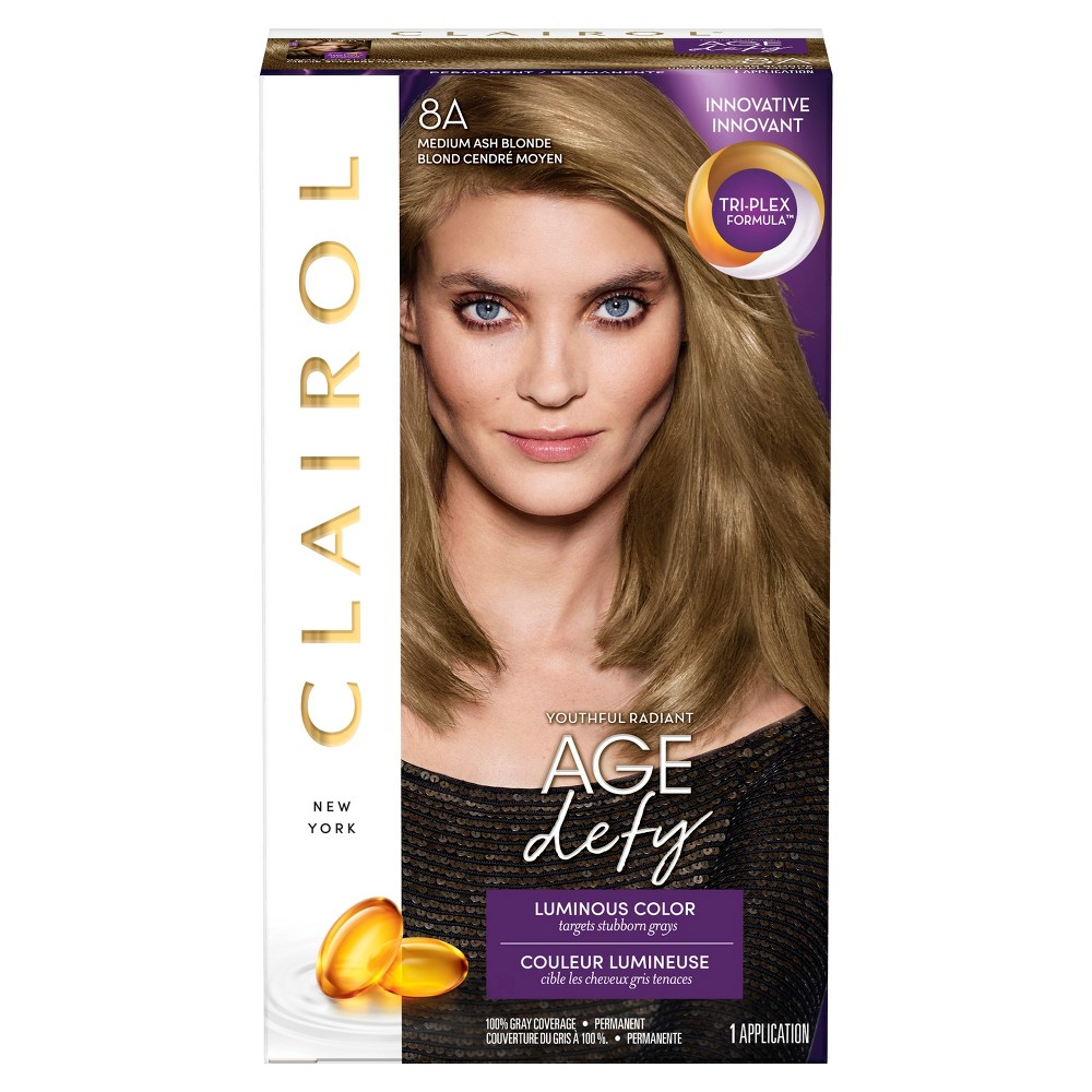 Image of Clairol Nice 'n Easy Age Defy Permanent Hair Color - 8A Medium Ash Blonde - 1 Kit
