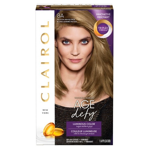 Clairol Nice 'n Easy Age Defy Permanent Hair Color - 8A Medium Ash Blonde - 1 Kit - image 1 of 4