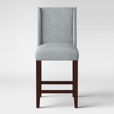 """24"""" Lowell Modified Wingback Counter Stool Gray - Threshold™"""