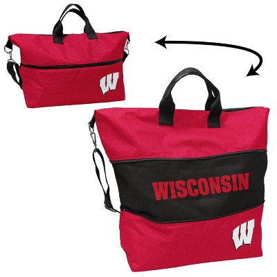 NCAA Wisconsin Badgers Crosshatch Expandable Tote