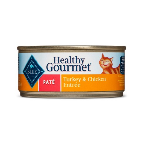 Blue Buffalo Healthy Gourmet Adult Pate Turkey & Chicken Entrée - Wet Cat Food - 5.5oz - image 1 of 2