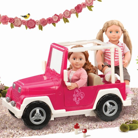 Our Generation My Way and Highways 4x4 Doll Vehicle - Pink and White image number null