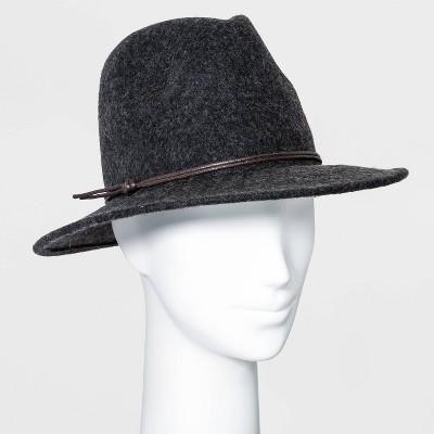 Women's Felt Fedora Hat - Universal Thread™ Charcoal