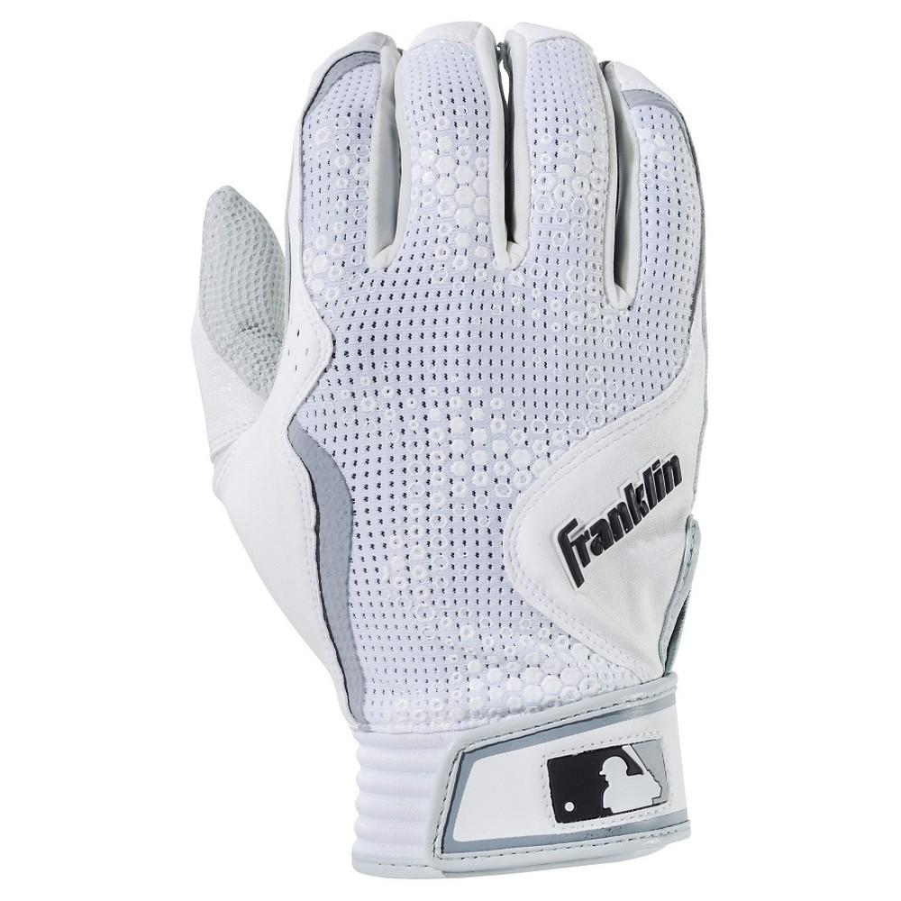 Franklin Sports Freeflex Series Adult Batting Gloves White