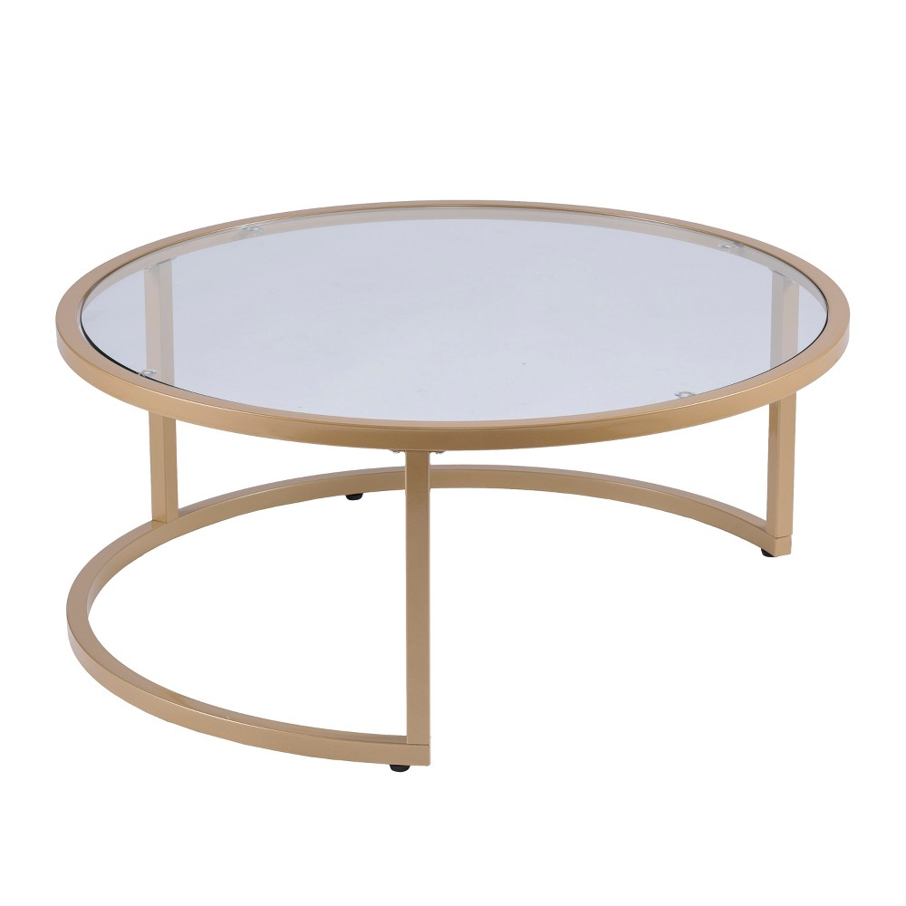Emma Glam Nesting Cocktail Table (Set of 2) Gold - Aiden Lane