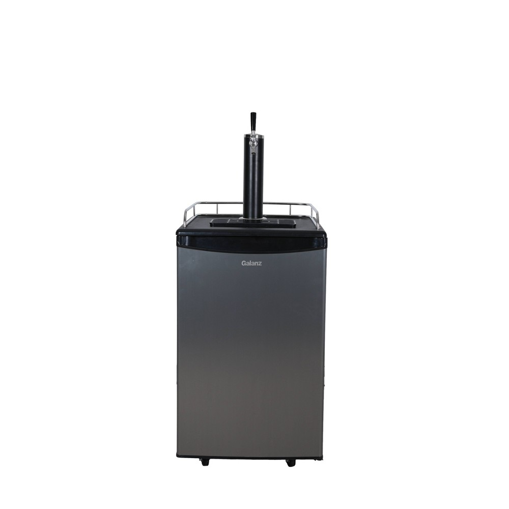 Galanz 5.4 cu ft Keg Cooler - GLK54MS1D01 The 5.4 cubic foot Galanz kegerator cooler has mechanical temperature control which allows you to adjust the temperature from 39-64 degrees for flexibiity. The wire shelf can be used as added storage when using smaller kegs. All accessories are included! Just add beer and the CO2 to the tank.