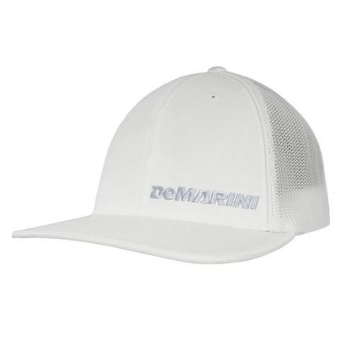 DeMarini Offset Logo 404M Baseball Softball Trucker Hat - White Silver -  L XL 7ec2002ae52