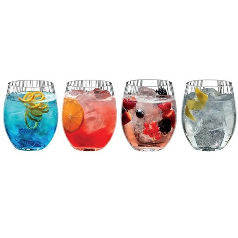Riedel Tumbler Collection Mixing Series Gin And Tonic Set With Cocktail Recipes Set Of 4 Glasses Target