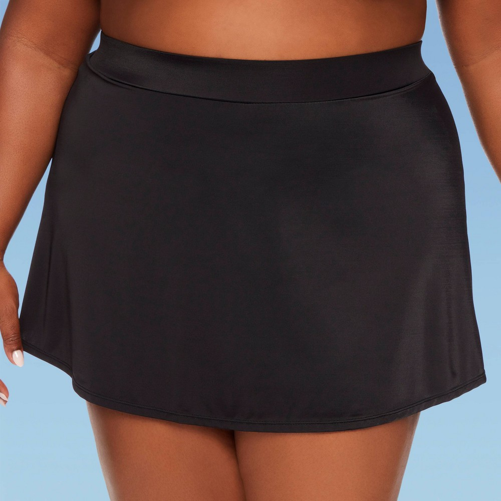 Image of Women's Plus Size Slimming Control Skirt - Dreamsuit By Miracle Brands Black 22W, Women's