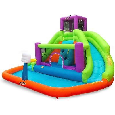 Magic Time International 91053-D Save Double Hurricane Outdoor Inflatable Water Bounce House with High Powered Electric Blower Fan, 14 x 8.5 Feet