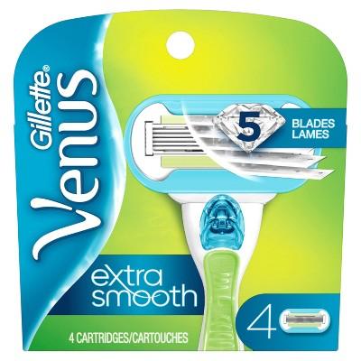 Venus Extra Smooth Women's Razor Blade Refills - 4ct
