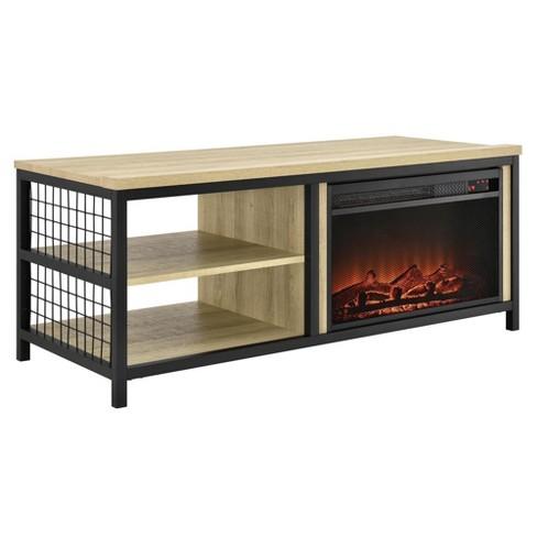 55 Elias Fireplace Tv Stand Oak Room Joy Target