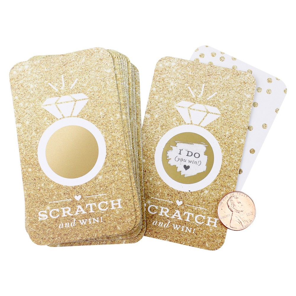 Image of 24ct Faux Glitter Scratch-off Game Cards