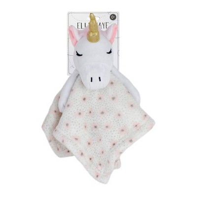 Elle & Jaye Security Blanket Pink Flower Unicorn with Arms Lovey