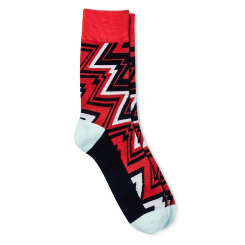Pair of Thieves® Men's Casual Socks - White/Black/Red 8-12 - image 1 of 2