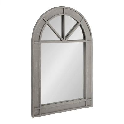 "24"" x 36"" Stonebridg Arch Wall Mirror Gray - Kate & Laurel All Things Decor"