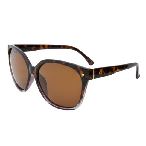 6bd6f049f6 Women s Two Tone Polarized Sunglasses - A New Day™ Tortoise   Target