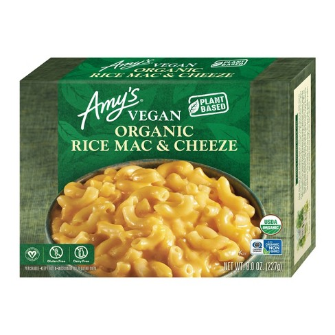 Amy's Organic Gluten Free and Vegan Frozen  Rice Macaroni and Cheese - 8oz - image 1 of 3