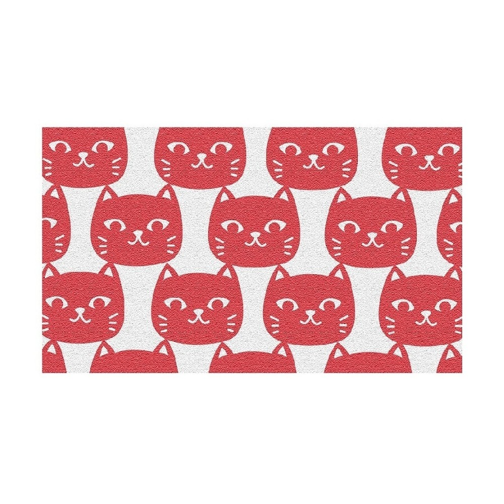 Pink & White Cat Rug (3'x5') - The Rug Market