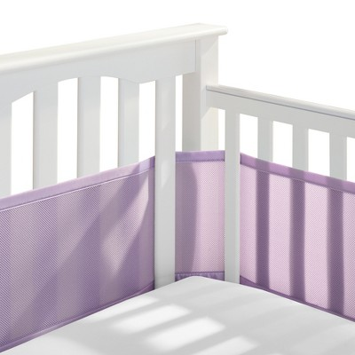 Breathable Baby® Solid Mesh Crib Liner - Lavender