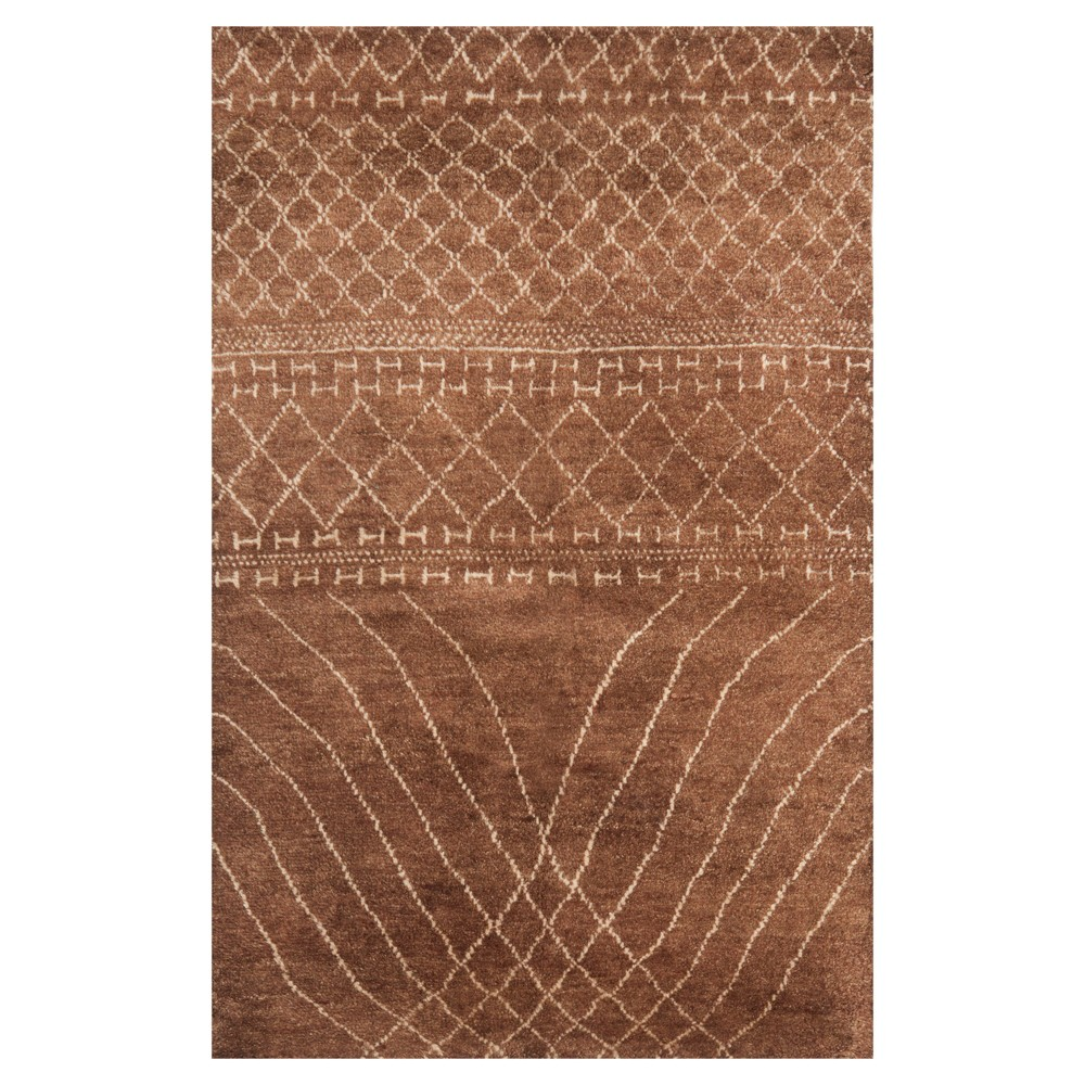 Bronze Abstract Tufted Area Rug - (8'X10') - Safavieh, Yellow