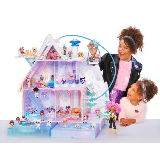L.O.L. Surprise! Winter Disco Chalet Doll House with 95+ Surprises image number null