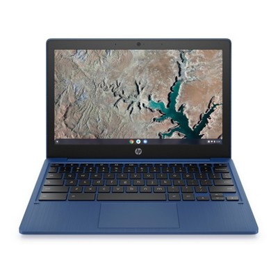 "HP 11.6"" Touchscreen Chromebook Laptop with Chrome OS - MediaTek Processor - 4GB RAM Memory - 32GB Flash Storage - Indigo Blue (11a-na0036nr)"