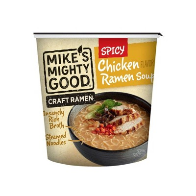 Mike's Might Good Soup Spicy Chicken Ramen Cups - 1.7oz