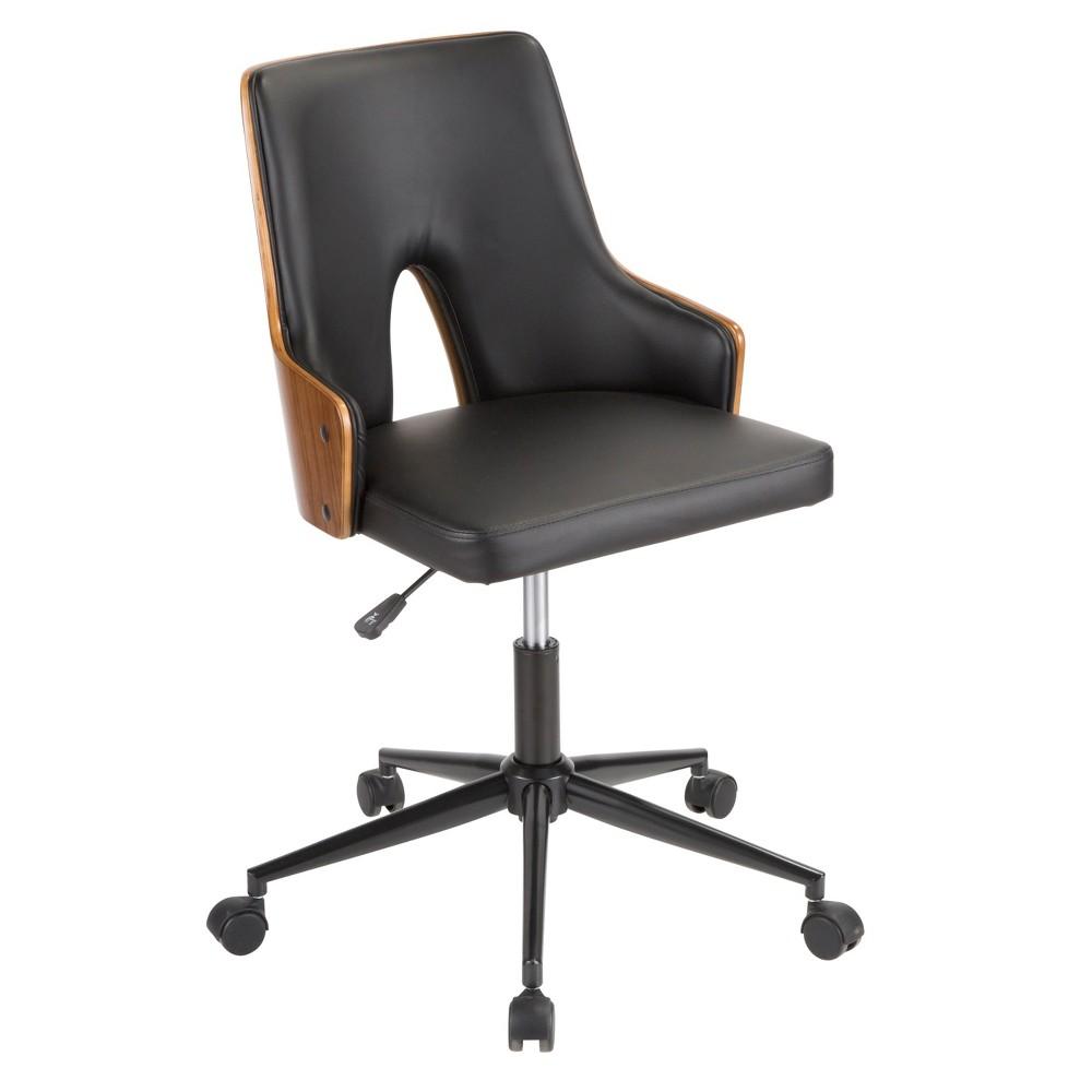Stella Mid Century Modern Office Chair Walnut/Black - Lumisource