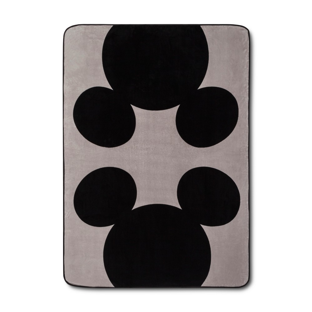 Image of Mickey Mouse & Friends Mickey Mouse Twin Bed Blanket Gray