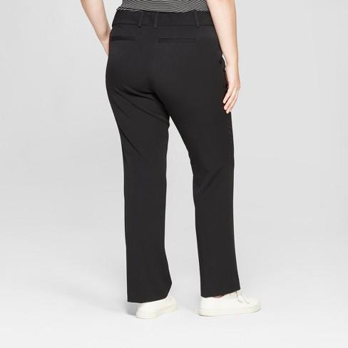 69699705ae9 Women s Plus Size Trouser Pants With Comfort Waistband - Ava   Viv™ Black  18W   Target