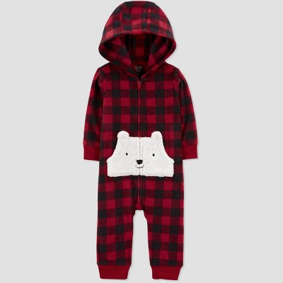 Baby Boys' Polar Bear Rompers - Just One You® made by carter's Red 6M