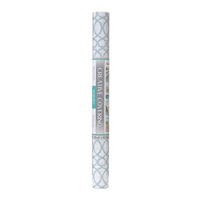 "Con-Tact Brand Creative Covering Multipurpose Shelf Liner - Moderna Blue (18""x 20')"