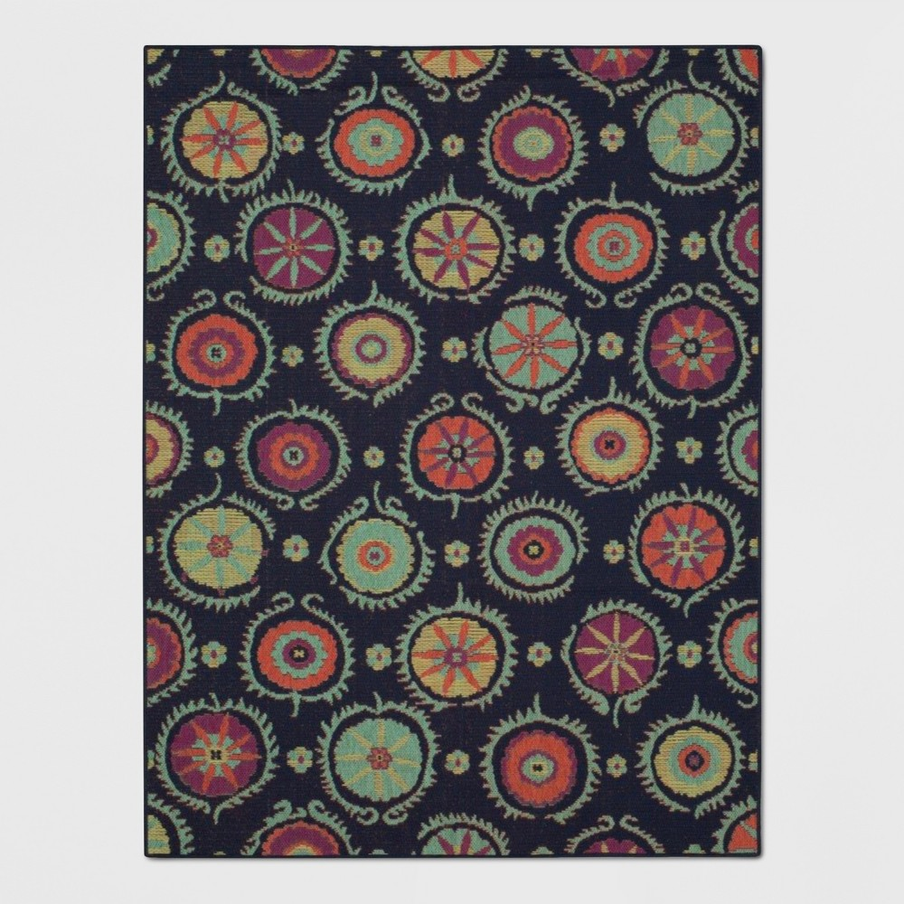 7' x 10' Suzani Scatter Outdoor Rug - Opalhouse, Multicolored