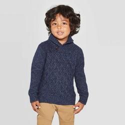 Toddler Boys' Shawl Collar Pullover Sweater - Cat & Jack™ Navy