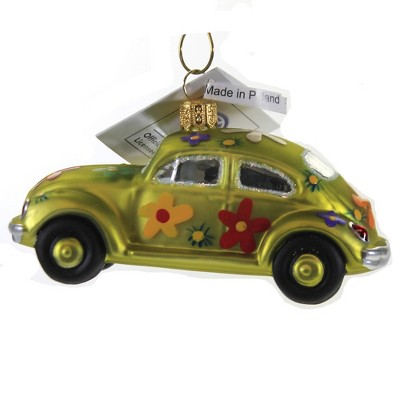 "Christina's World 2.0"" Flower Power Volkswagen Bug Ornament Vw Love 1970  -  Tree Ornaments"