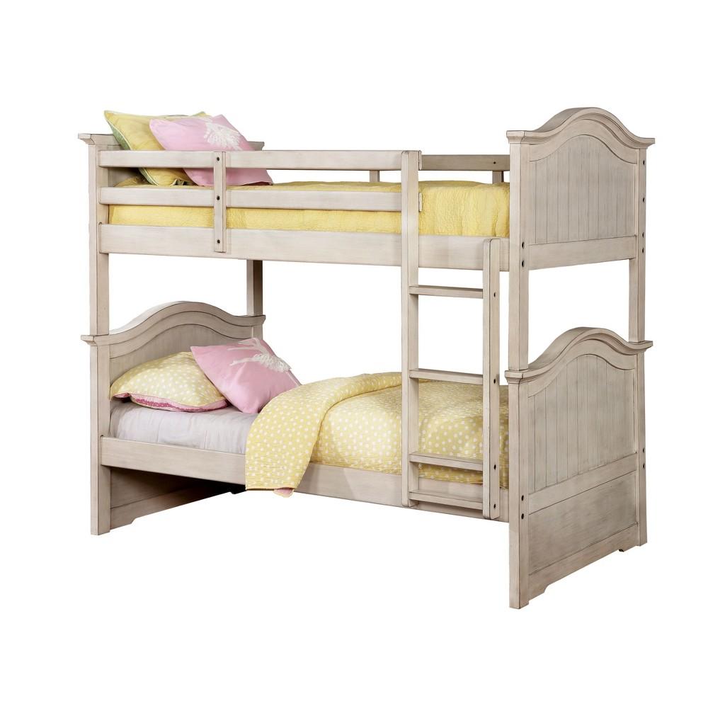 Esme Kids Bunk Bed Twin Winter White - miBasics