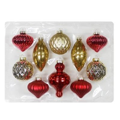 10ct Christmas Ornament Set Blush White Mint and Gold - Wondershop™