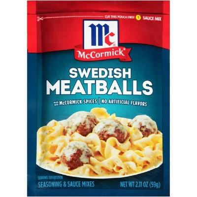 McCormick Swedish Meatballs Seasoning & Sauce Mixes - 2.11oz