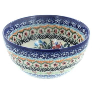 Blue Rose Polish Pottery Ashley Dessert Bowl